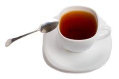 Taza de té de los rooibos con la cuchara Fotografía de archivo libre de regalías