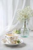 Taza de té de manzanilla, aún-vida de la mañana, Foto de archivo libre de regalías