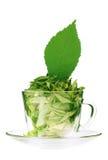 Taza de té de té verde Fotografía de archivo