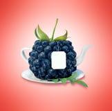 Taza de té del arándano Imagen de archivo