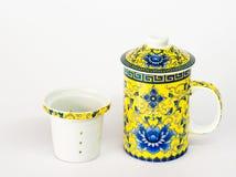 Taza de té del estilo chino Imagenes de archivo
