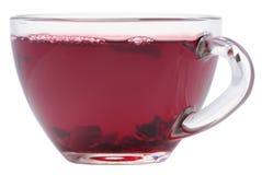Taza de té del hibisco imagenes de archivo