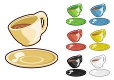 Taza de té del vector de la historieta Imagenes de archivo