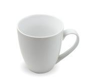 Taza de té en blanco Fotografía de archivo libre de regalías
