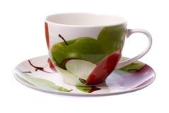 Taza de té en blanco fotos de archivo libres de regalías