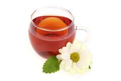 Taza de té en el fondo blanco imagenes de archivo