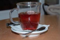 Taza de té en el vector imágenes de archivo libres de regalías