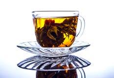 Taza de té china con la reflexión Imágenes de archivo libres de regalías