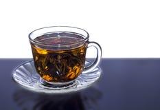 Taza de té china con la reflexión Foto de archivo libre de regalías