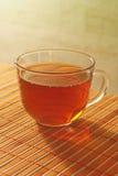 Taza de té en un paño de vector de bambú Fotografía de archivo libre de regalías