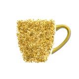 Taza de té hecha de las flores de la baya del saúco Foto de archivo libre de regalías