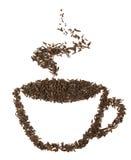 Taza de té hecha de las hojas del té Foto de archivo libre de regalías