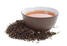 Taza de té negro fotografía de archivo