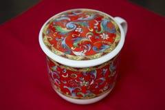 Taza de té para el té verde chino del brebaje Foto de archivo libre de regalías