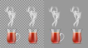 Taza de té turca con té negro libre illustration