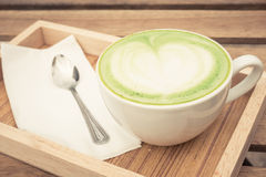 Taza de té verde Imagen de archivo libre de regalías