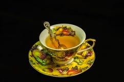 Taza de té verde Foto de archivo