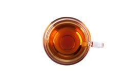 Taza de té, visión superior Imagenes de archivo