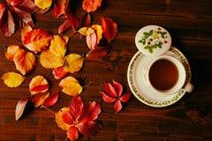 Taza de té vista desde arriba Foto de archivo libre de regalías