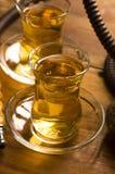 Taza de té y de cachimba turcos Fotos de archivo