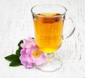 Taza de té y de dogrose Fotografía de archivo