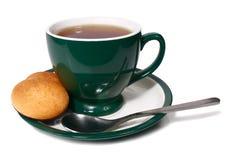 Taza de té y de galleta Imágenes de archivo libres de regalías
