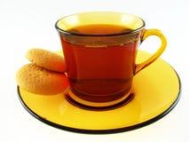 Taza de té y de galletas Imágenes de archivo libres de regalías