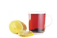 Taza de té y de limón Fotografía de archivo libre de regalías