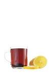 Taza de té y de limón Fotografía de archivo