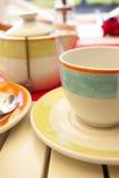Taza de té y de tetera Foto de archivo