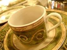 Taza de té y platillo Foto de archivo