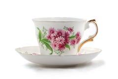 Taza de té y platillo imágenes de archivo libres de regalías