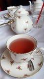 Taza de té y pote del té Foto de archivo libre de regalías