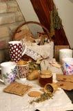Taza de té y té Fotos de archivo