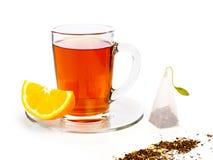 Taza de té con el limón Foto de archivo