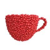 Taza de tomates rojos Imagen de archivo