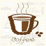 Taza de vector de los granos de café Ilustración del Vector