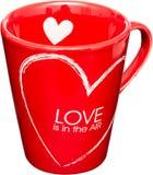 Taza del amor foto de archivo libre de regalías