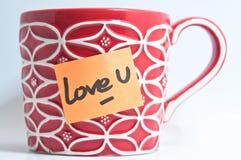 Taza del amor U Fotografía de archivo