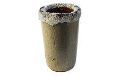 Taza del arte del Tequila con la sal en el top imagen de archivo libre de regalías