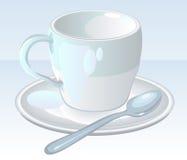 Taza del blanco del café Imagen de archivo libre de regalías