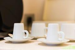 Taza del café con leche Imagen de archivo libre de regalías