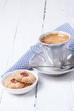 Taza del café con leche Foto de archivo