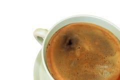 Taza del café con leche Fotografía de archivo