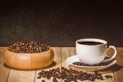Taza del café con leche Foto de archivo libre de regalías