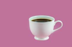 Taza del café con leche con café sólo Imagenes de archivo