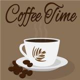 Taza del café con leche Tiempo del café Fotos de archivo libres de regalías