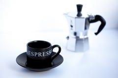 Taza del café express Fotos de archivo
