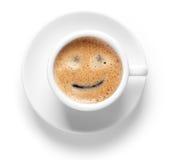 Taza del café express con sonrisa foto de archivo libre de regalías