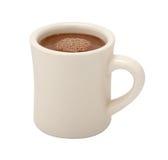 Taza del chocolate caliente aislada Fotos de archivo libres de regalías